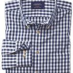 Charles Tyrwhitt Shirt (Chequered Navy Blue)
