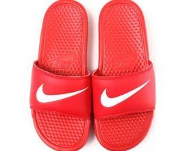 Red Nike Benassi Slippers Ghana