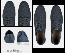 Burton Grey Tweed Plimsolls
