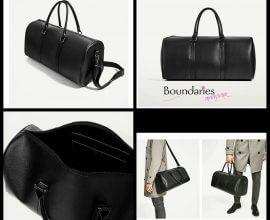 Zara Classic Black Duffle Bag