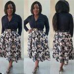 Top Shop Pleated Midi Skirt