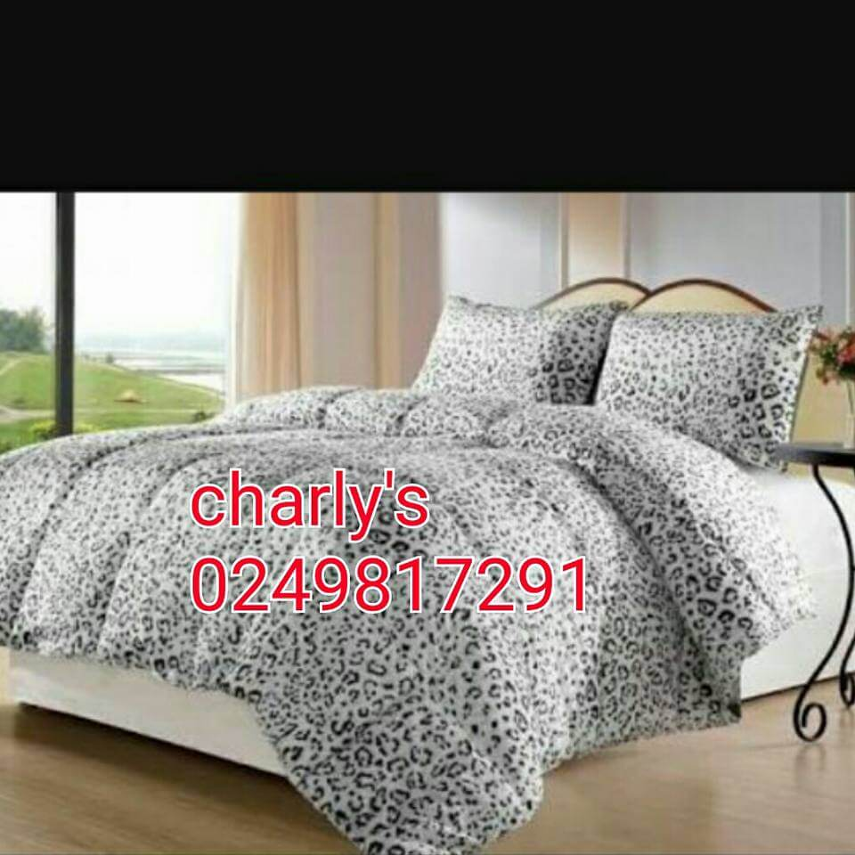 King Size Bedsheet White Leopard Print Bedding