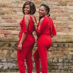 Red Cut-Out Jumpsuit