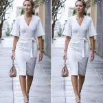 White Kimono Dress
