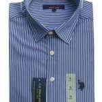 USPA Long Sleeves Shirt (Blue and White Stripes)