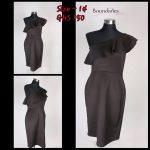 Dorothy Perkins One Shoulder Dress (Black)