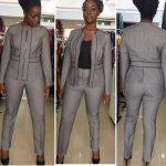 Front Zip Trouser Suit