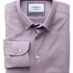 Charles Tyrwhitt Mauve Long Sleeve Shirt