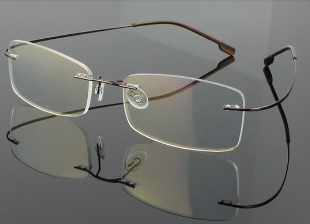 Rimless Eyeglasses Executive Optical : Rimless Optical Frames Copper Reapp.com.gh
