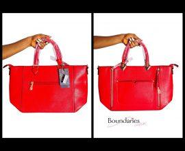 red ladies bag