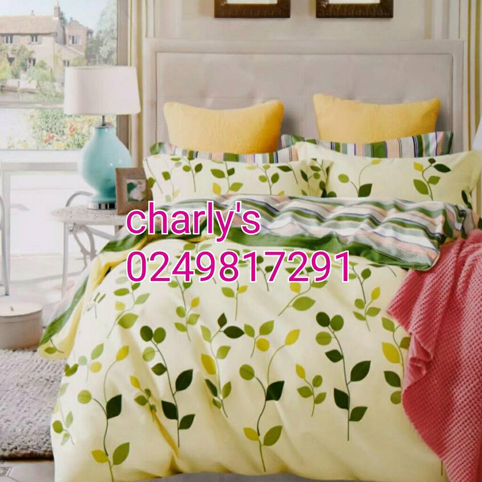Leaf Patterned Bed Sheet (King, Queen Or Double) Bedding