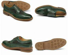 dark green shoes for men