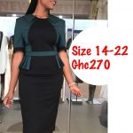 Green and Black Ladies Office Wear