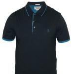 Penguin Polo T-Shirt (Dark Blue and Light Blue)