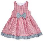 Kids Checkered Dress (Red)