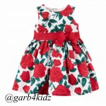 Red Roses Bow Dress