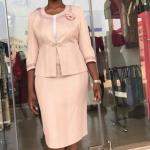 Ladies Occasion Skirt Suit (Beige)