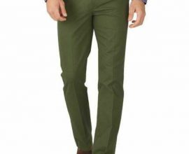 green slim fit trousers
