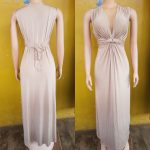 Nude Satin Gown