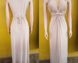 nude colour dress