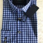 Benetti Plaid Long Sleeve Shirt (Dark Blue)