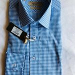 Benetti Plaid Shirt (Blue and White)