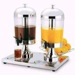 Double Juice Dispenser with Ice Chamber