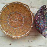 Mini beaded baskets