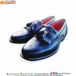 Handmade Men Shoe, Gentleman leather Black with Bell