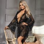 Soft Sheer Lace Robe