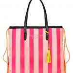 Victoria's Secret Limited Edition Pink Striped Canvas Weekender