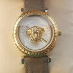 Versace Ladies Leather Watch