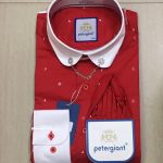 Petergiant Long Sleeves Shirt (Red and White)