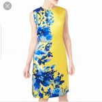 Yellow Floral Patterned Dress