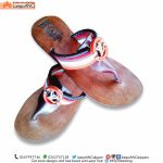 Ladies Slippers, African Beaded Sleek