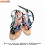 Men Sandals, Double Strap Weaved Toe
