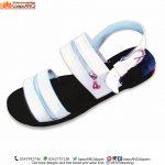 Men Sandals, Unisex White Zipper Straps