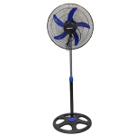 "Mikachi Standing Fan – 18"" Blue/Black"