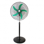 "Mikachi Standing Fan – 20"" Green/Black"