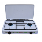 Mikachi Table Top Gas Cooker – 2 Burner White