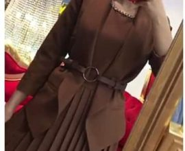ladies brown suit
