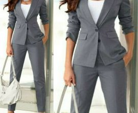 ladies grey suit