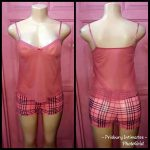 Pink Burberry top and down nightie