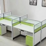 Four Workstation Office Desk