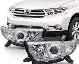 2012 toyota highlander headlight