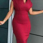 High V Neck Sleeveless Dress
