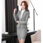 Grey Skirt Suit