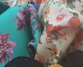 floral scuba fabric