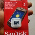 4GB original SanDisk memory card