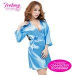 Blue bridal morning coat